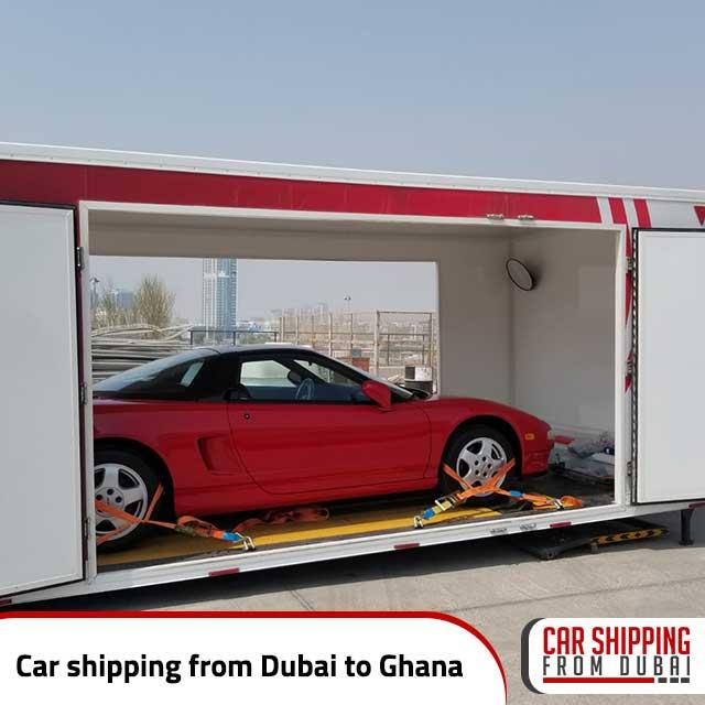 Car shipping from Dubai to Ghana